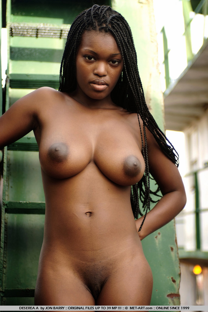 Naked hot black female models