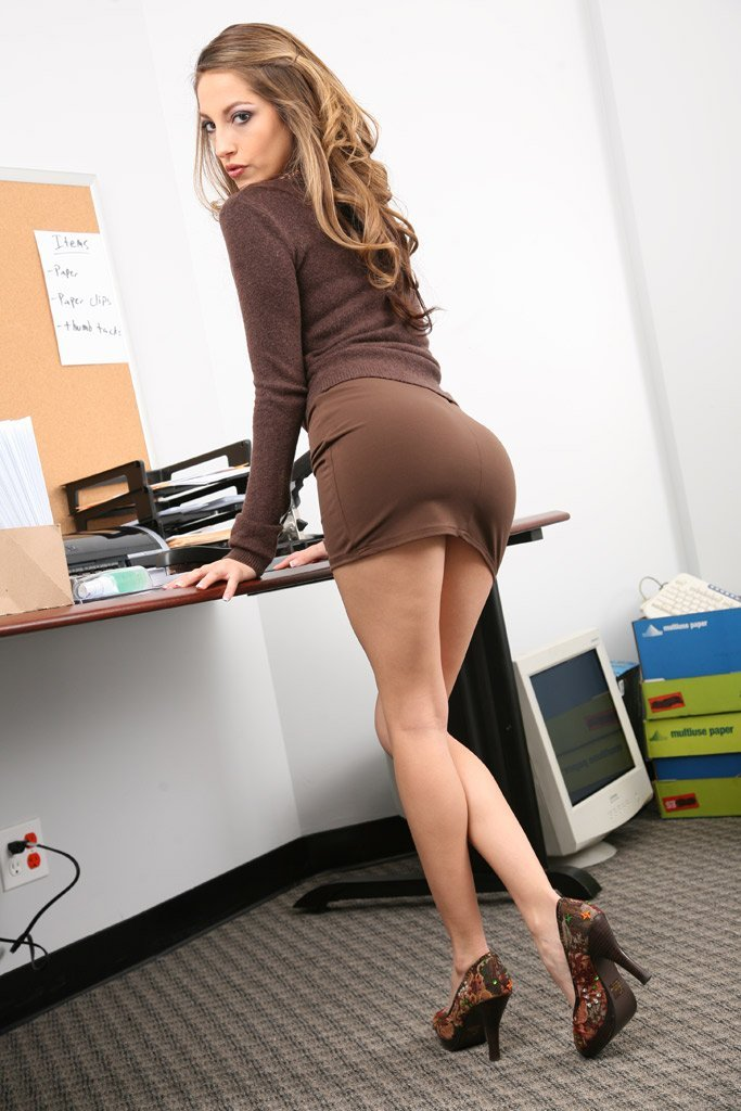 Naughty secretary legs